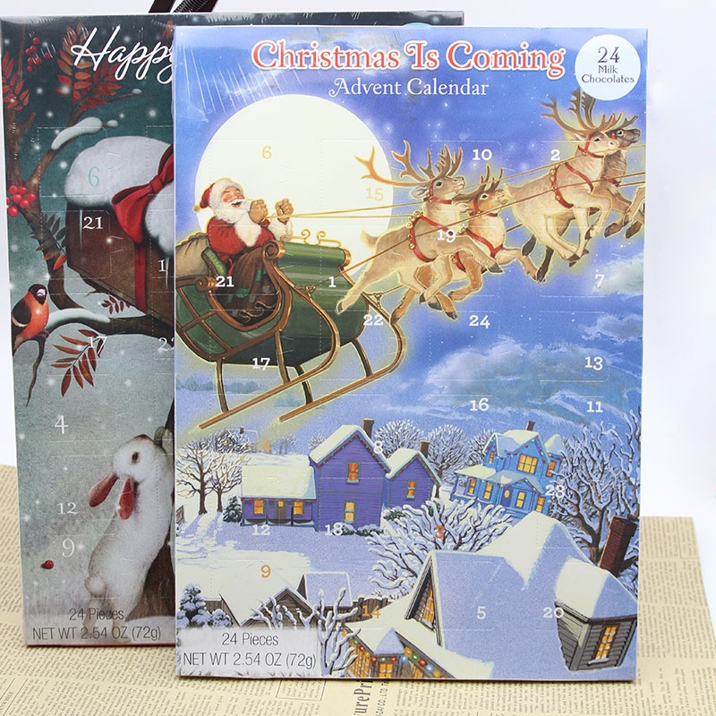 72g Christmas chocolate advent calendar