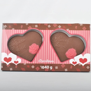 40g Vegan Valentine Chocolate Gifts in Heart shape