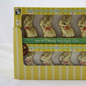 32g solid chocolate rabbit for Easter festival