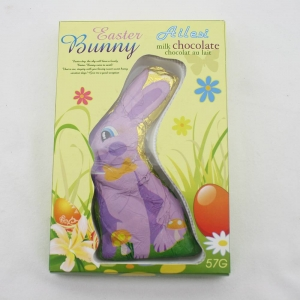 57g solid chocolate easter bunny for children