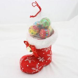 Christmas hazelnut chocolate candy in boot(40g)