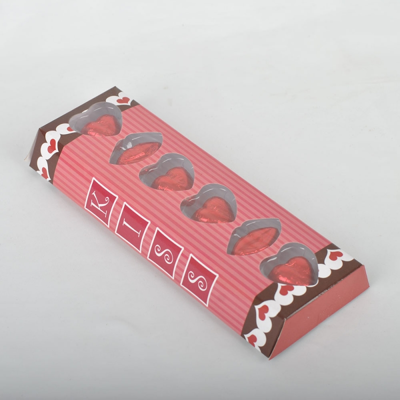 29g Heart and lip Valentine pure chocolate package in box