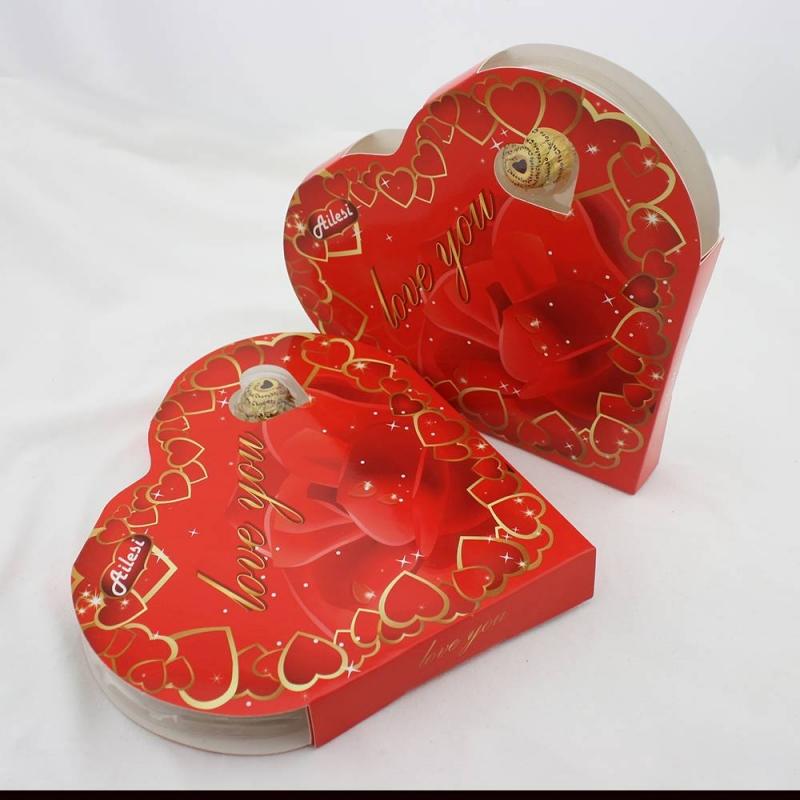 50g Valentine halal chocolates milk chocolate in heart shape box