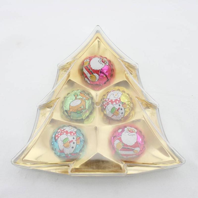 40g ball shape christmas tree chocolates