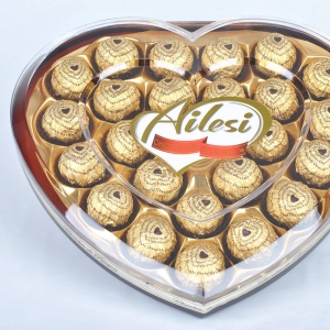 288g T24 Chocolate factory price on heart shape box