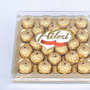 250g T24 Chocolate covered peanuts on square box