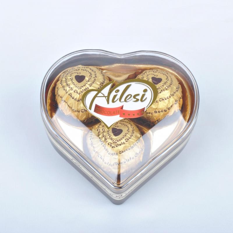 38g heart shape 3 pcs milk choco ball