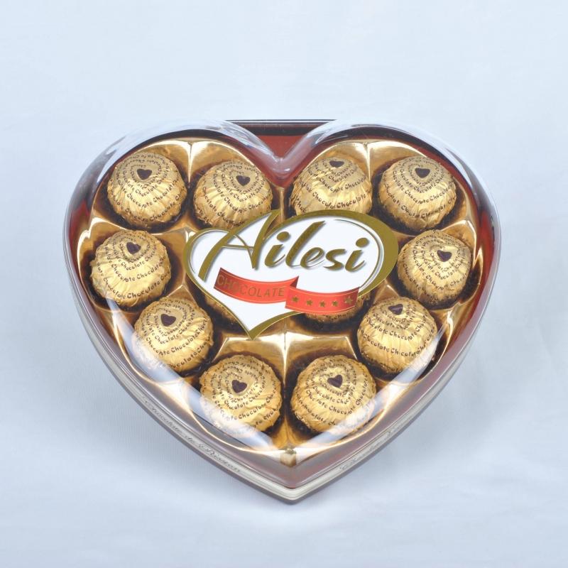 150g  T12 heart shape chocolate hampers uk