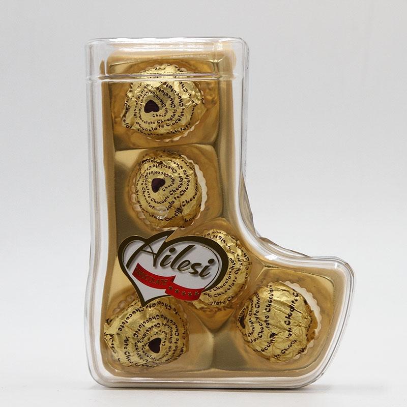 62.5g 5pc boot shape milk chocolate footballs