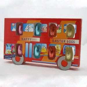72g solid twin bus chocolate easter eggs