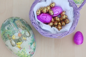 Colorful easter chocolate egg for you