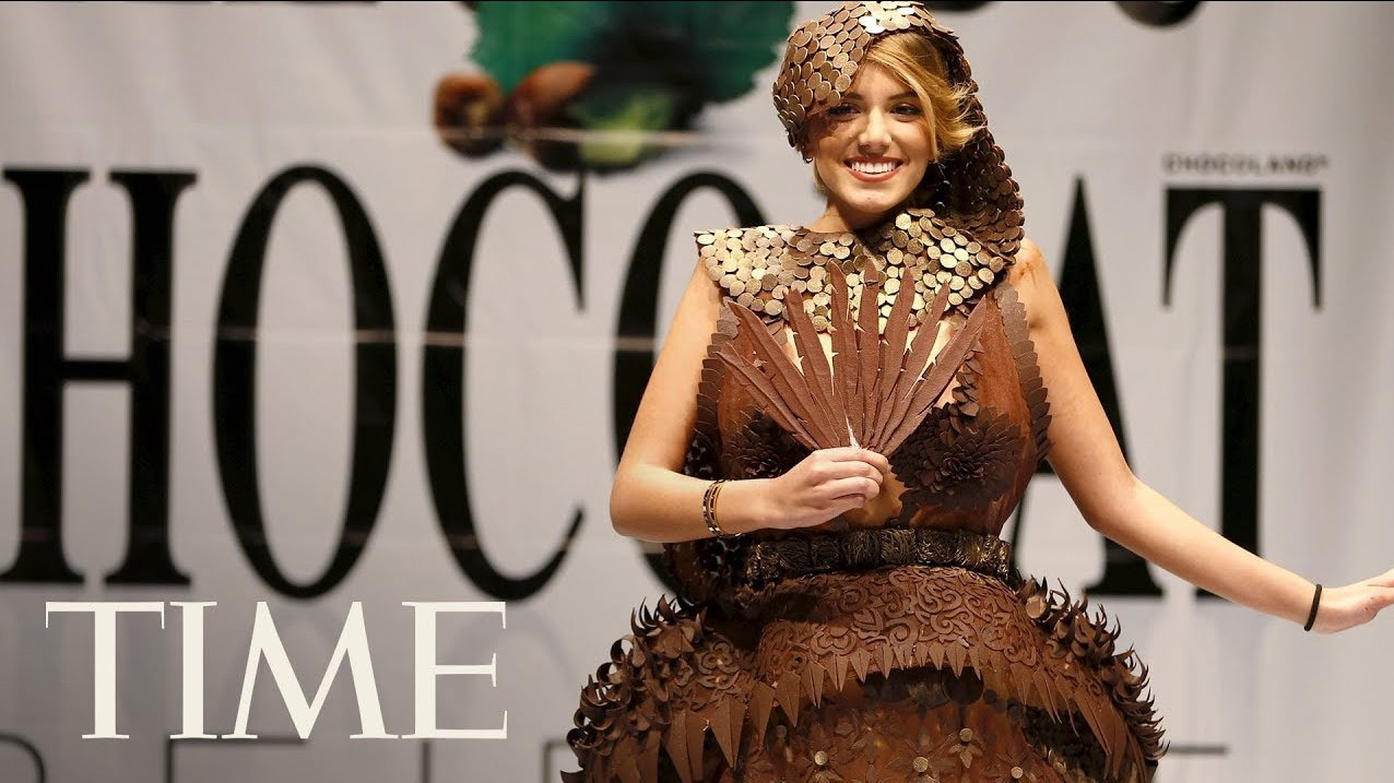 Chocolate fashion show opens the 6th Brussels Chocolate Salon